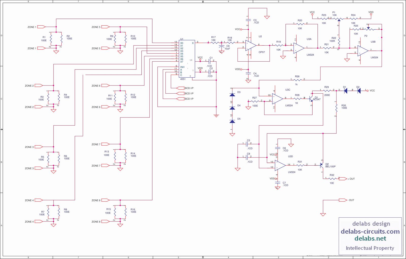 Analog Mux using 4051