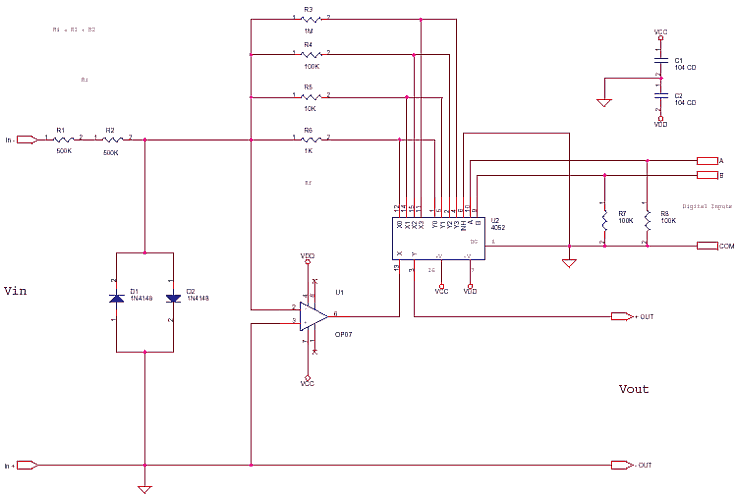 Precision Attenuator with digital control
