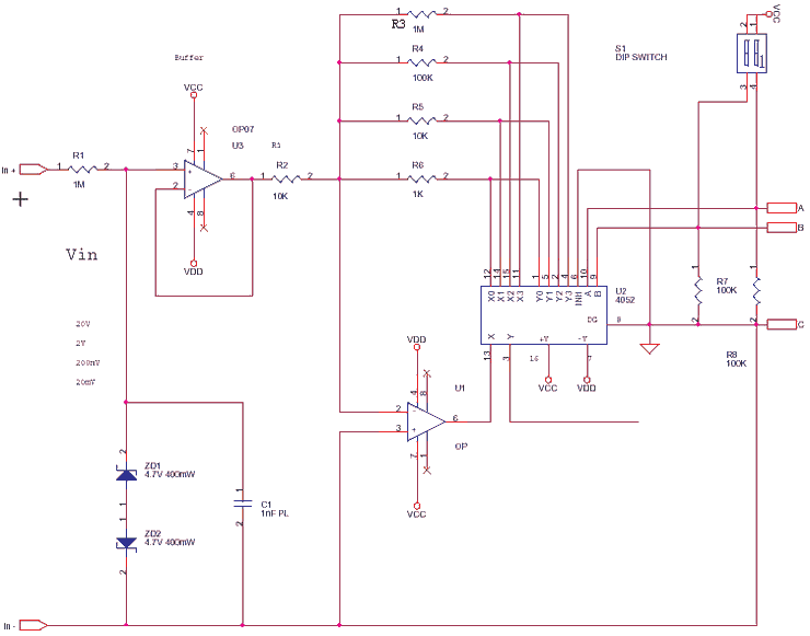 Precision Amplifier with Digital Control