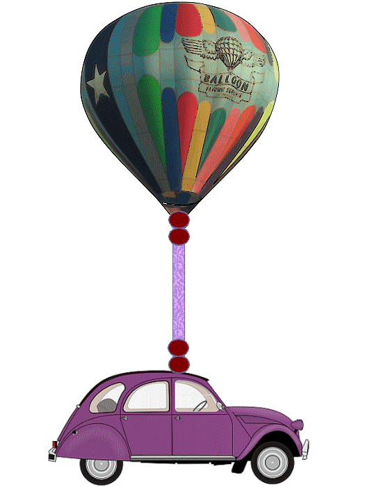 Balloon Antigravity Car